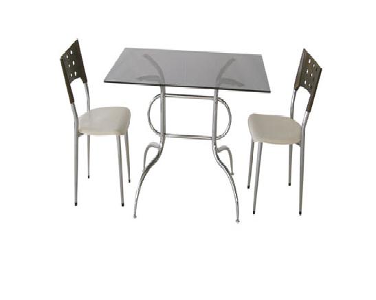 İki kişilik mini cam masa ve sandalye - 12