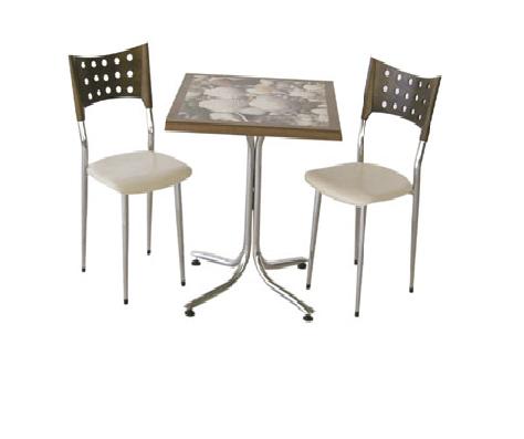 İki kişilik kare masa sandalye - 14