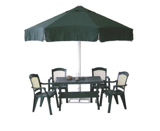 Açık alan için şemsiyeli masa sandalye - 19