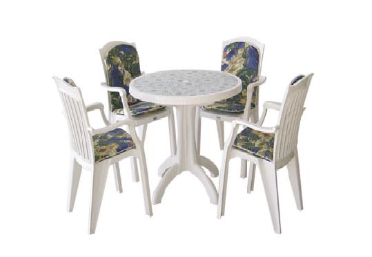 4 kişilik plastik masa sandalye - 21