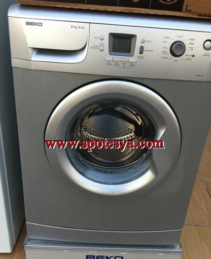 Spottan gri yeni nesil çamaşır makinesi