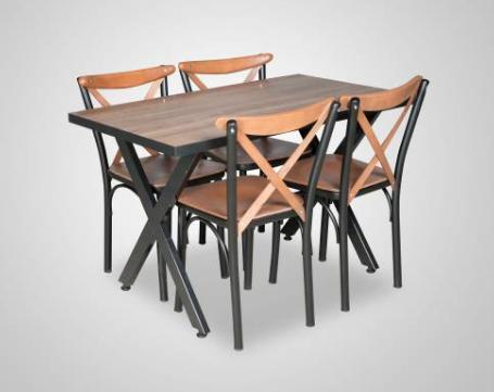 Spot Mutfak Yemek Masa Sandalye Takımı X Ayaklı