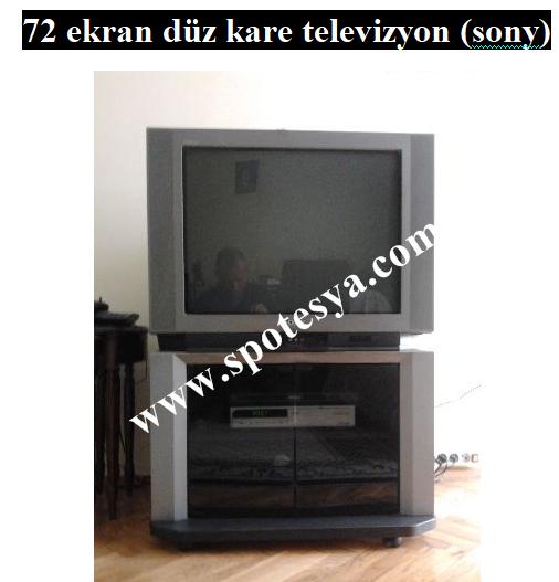 Sony 72 ekran düz kare televizyon