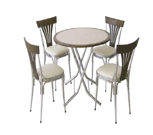 Yuvarlak masa 4 kişilik cafe masası - 04