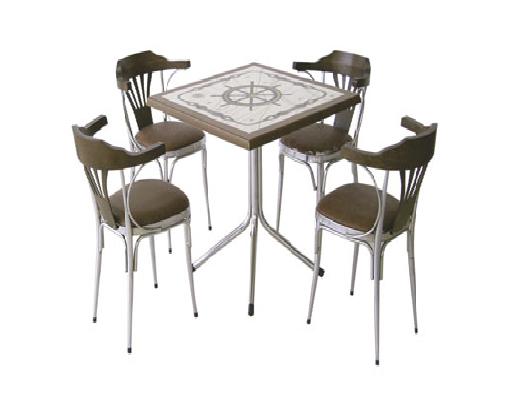 Gemici armalı lokanta masa takımı