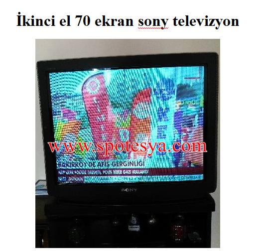 70 ekran sony tüplü televizyon