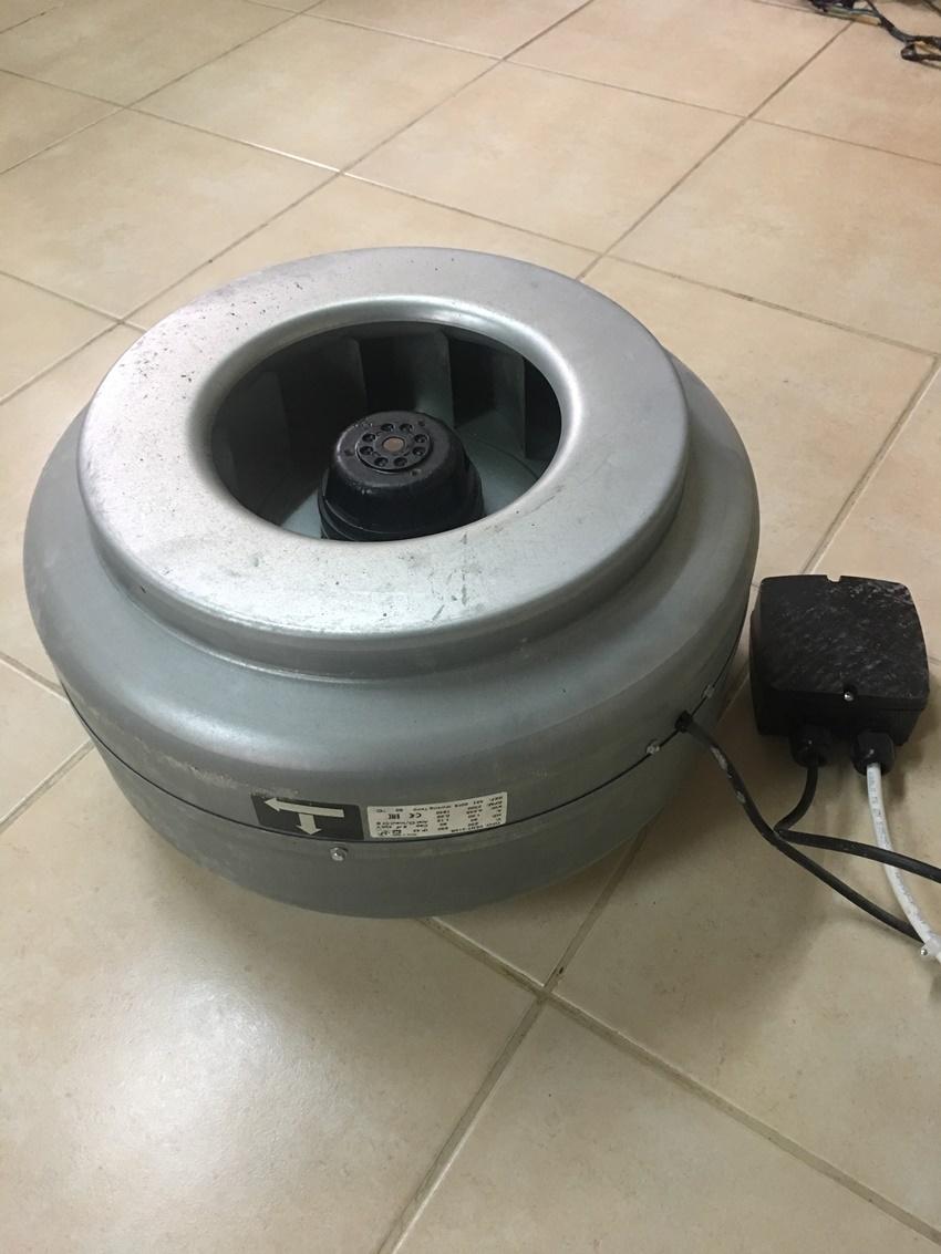 Sanayi tipi yuvarlak kanal fan, vent 315B sadece 1 ay kullanıldı