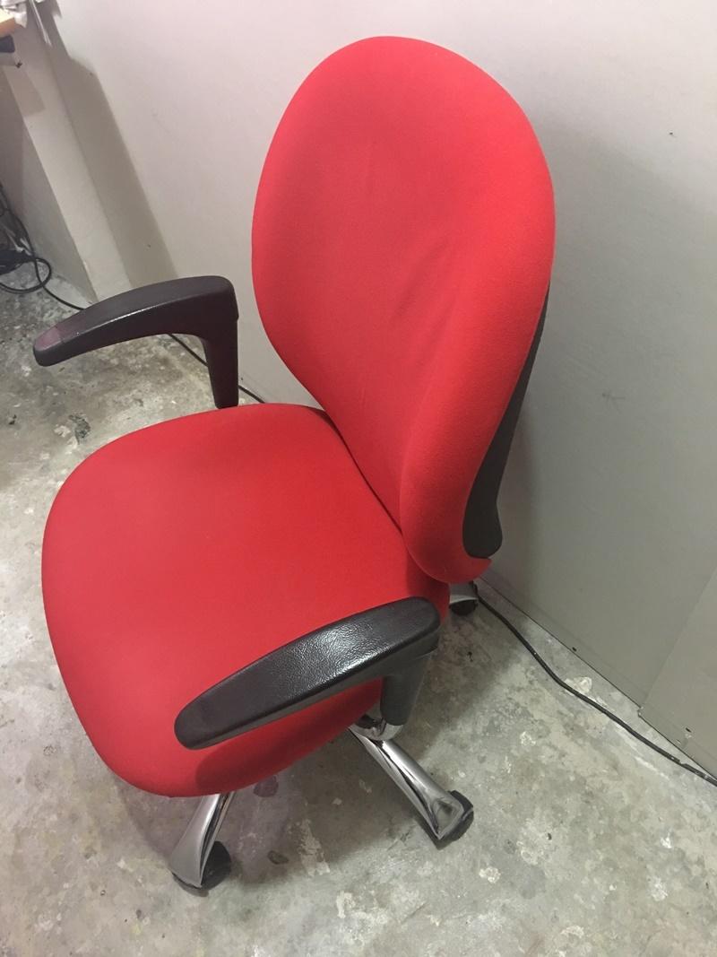 Bürosit ikinci el kırmızı renk döner ofis koltuğu
