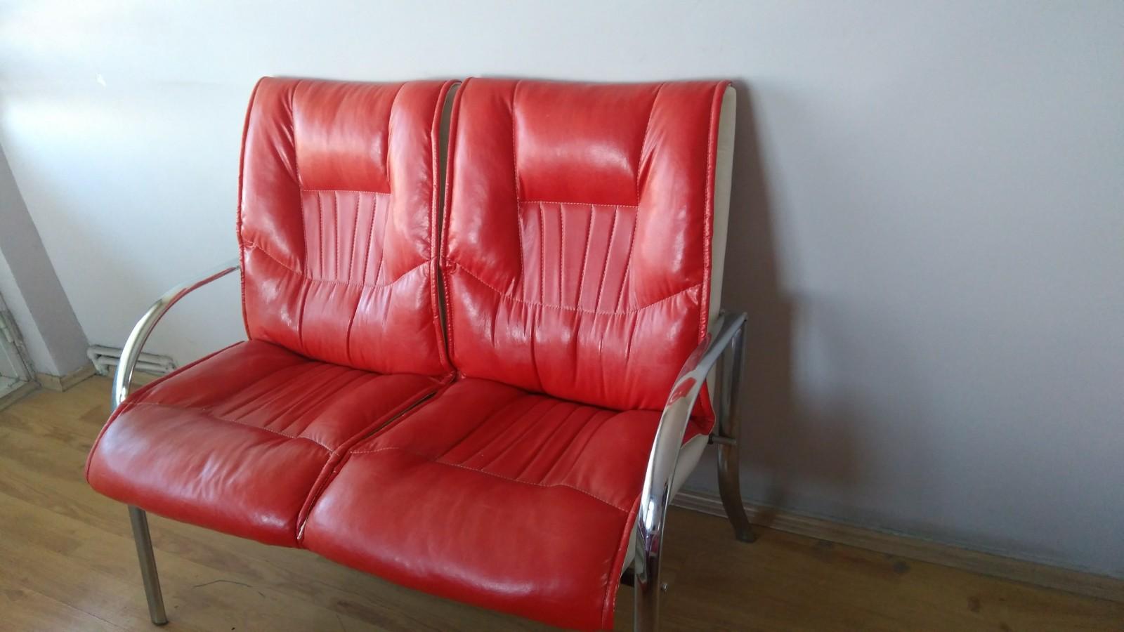 Ofis için bekleme koltuğu kırmızı renk son derece rahat