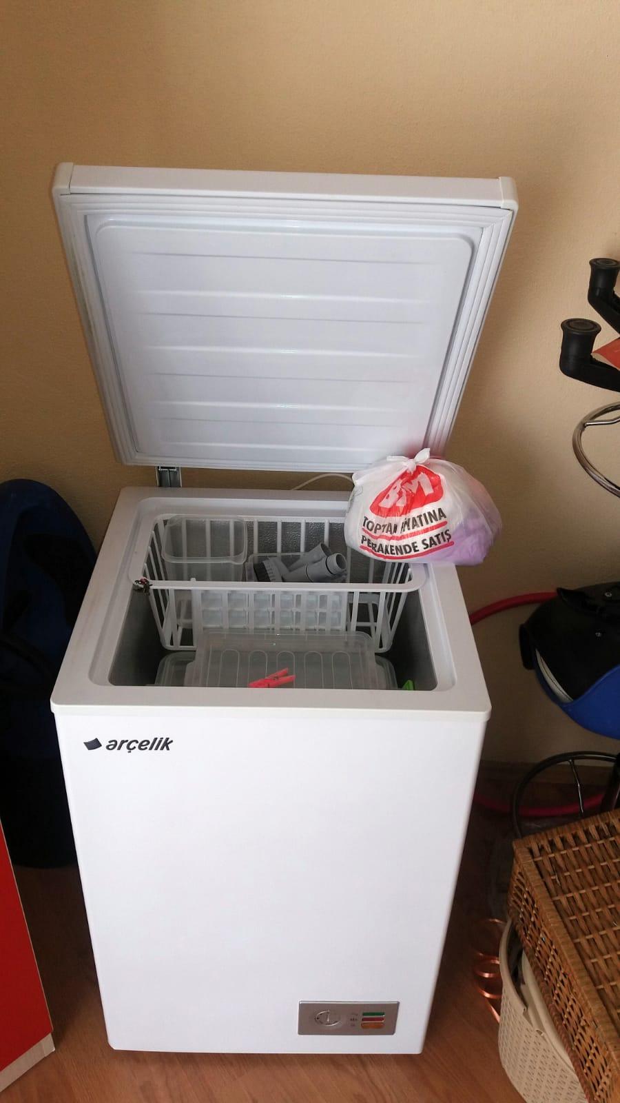 2.el arçelik üstten açmalı derin dondurucu sorunu kusuru yok