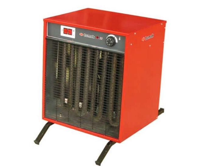 Sanayi tipi, trifaze elektrikle çalışan güçlü ısıtıcı, kurutucu