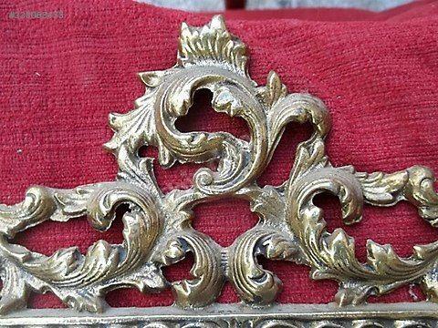 Antika klasik bronz ayna çerçevesi bronz taş