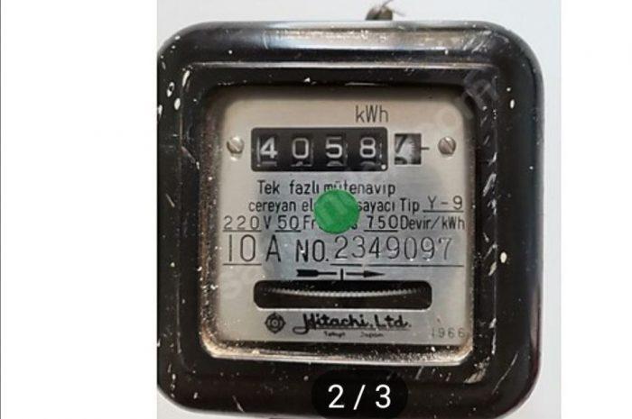 antika elektrik sayacı. hitachi marka nadir bulunur