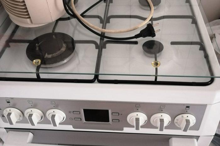 temiz kullanılmış arçelik marka doğalgaz uyumlu 4 gözlü ocaklı fırın
