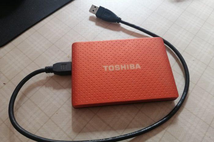 toshiba 1 TB harici disk sıfır ayarında hatasız